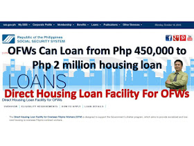 SSS, SSS Housing Loan, Housing Loan, Housing Loan For OFW, OFW Guide, loan information for sss housing loan, how to process, loanable amount interest rate requirements