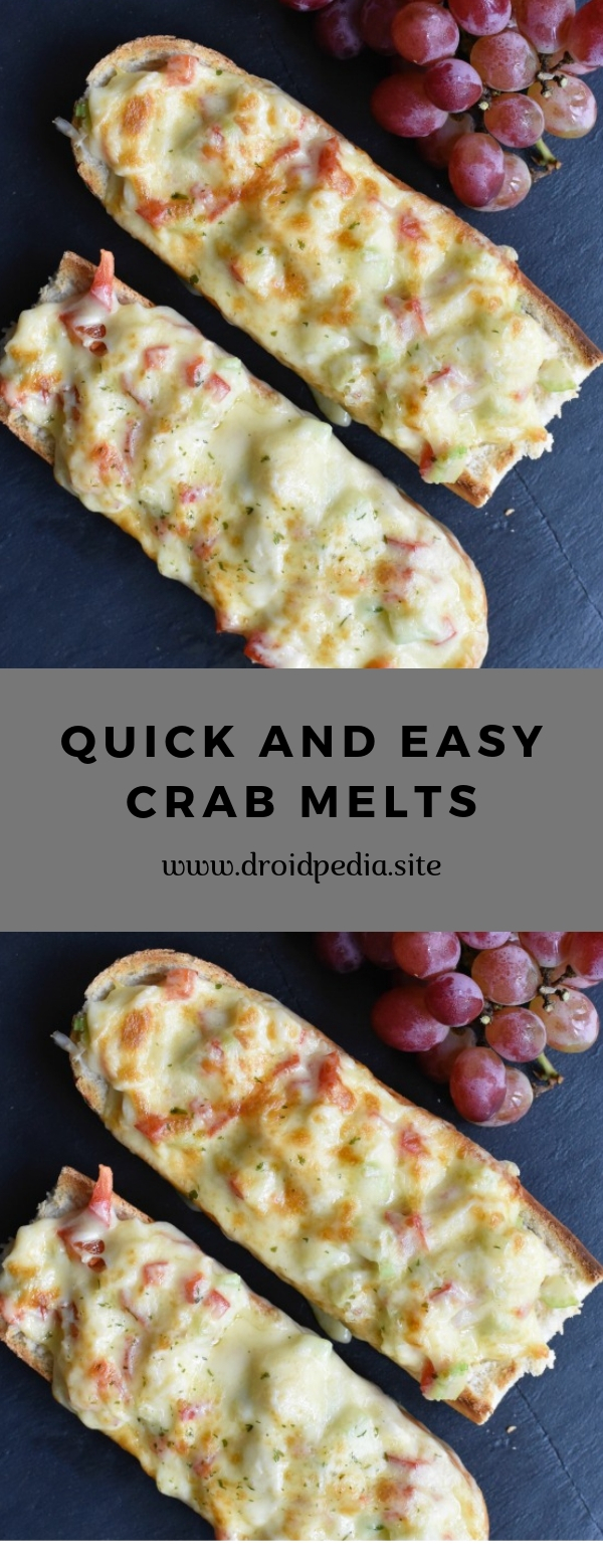 Quick and Easy Crab Melts #appetizer #easy #quick