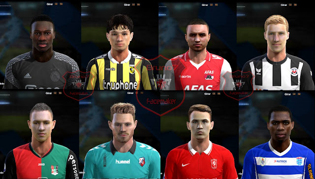 PES 2013 Face Pack Eredivisie 2016-17 by Bruno7 Facemaker