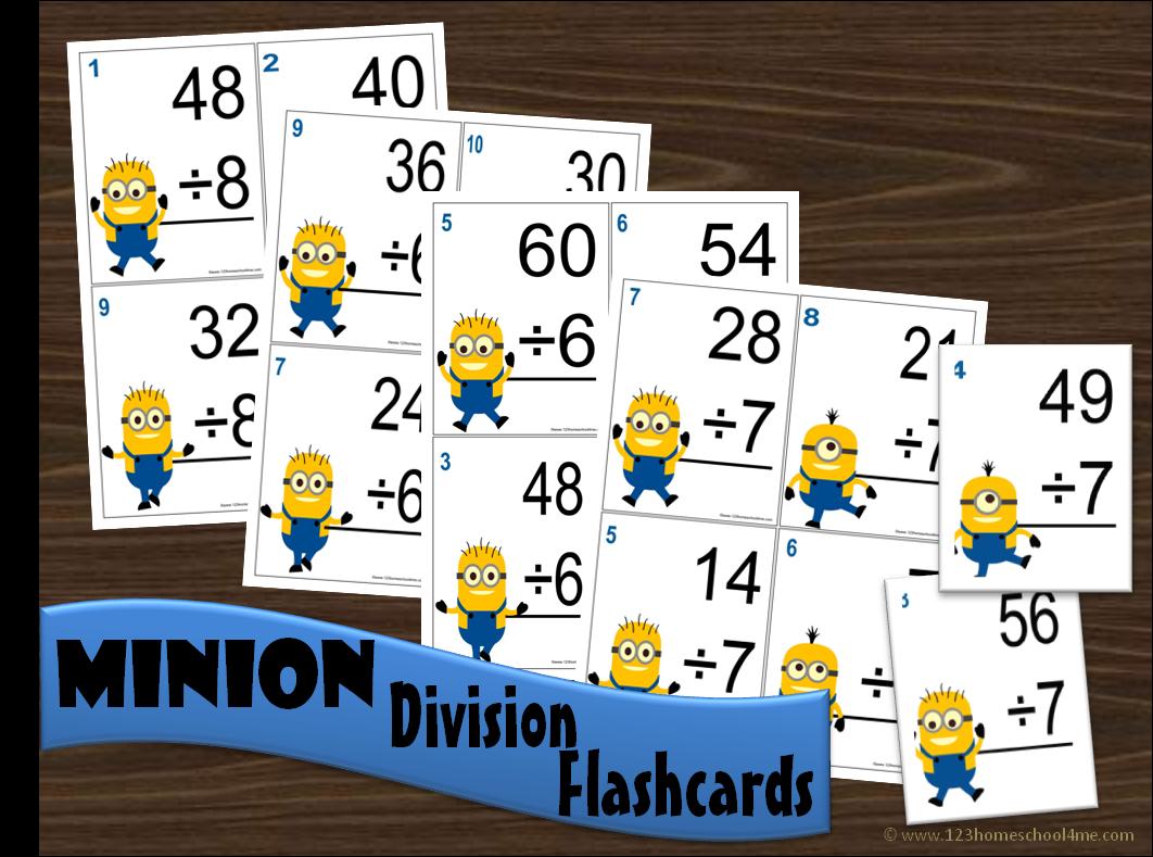 Minion Division Flashcards