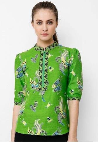 Model Baju Batik Kerja Kombinasi Paling Trendi