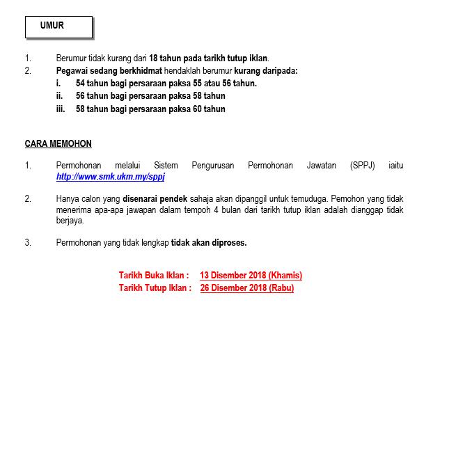Jawatan Kosong Kerajaan Di Universiti Kebangsaan Malaysia Ukm