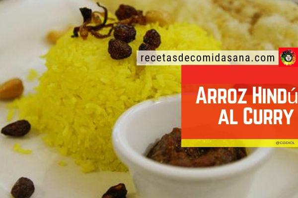 Receta de arroz hindú al curry para 4 personas