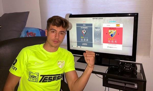 Iván Jaime golea con el Málaga al Mirandés en el I Trofeo Carranza de eSports de FIFA 20 (0-5)