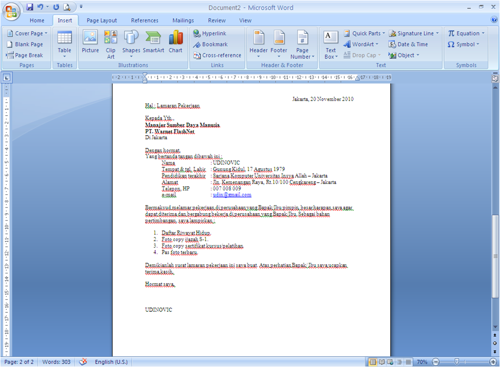 15 Contoh Surat Lamaran Kerja Via Email Guild Jobs