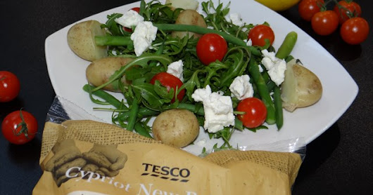 Zesty Cypriot potato and feta salad
