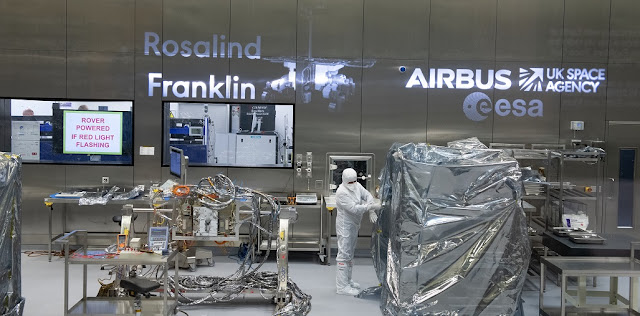 The European ExoMars rover under construction at Airbus, Stevenage, in the UK. Credit: ESA - S. Corvaja
