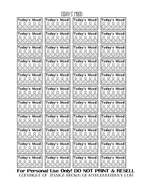 Free Printable Today's Mood Tracker Boxes from myplannerenvy.com