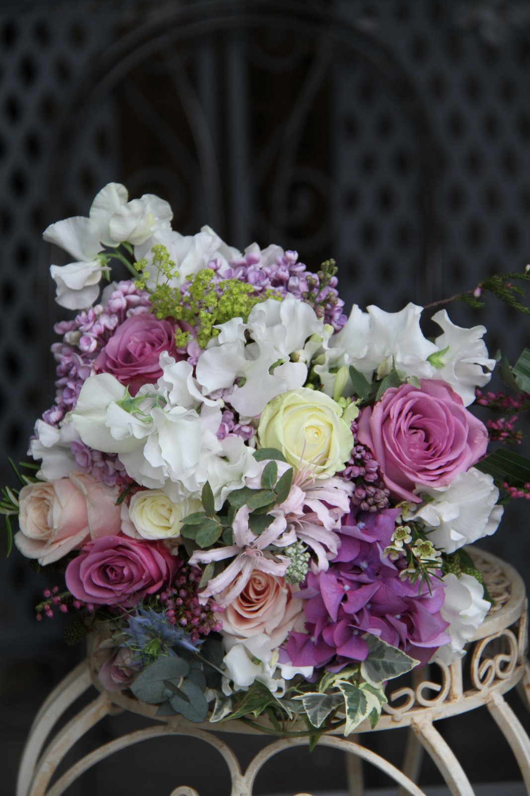 The Flower Magician: Victorian Lilac Wedding Bouquet