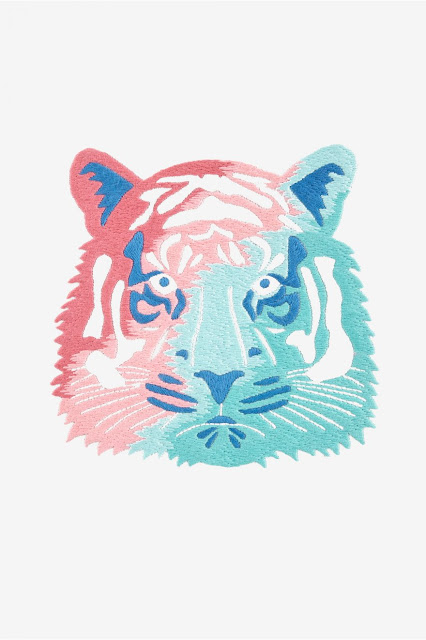 DMC Free Embroidery Patterns, Tiger