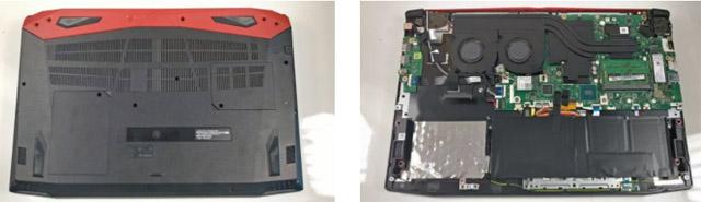 Acer Predator Helios 300 parte interior