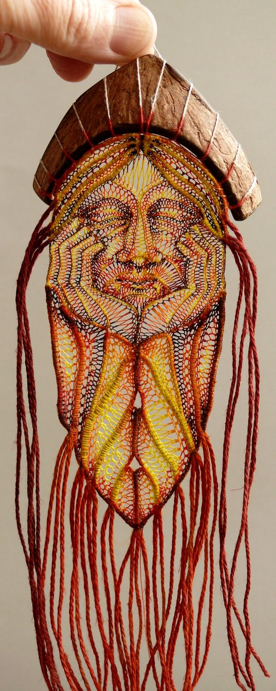 Original artwork by Ágnes Herczeg, featured by Julia Titchfield on Feeling Stitchy