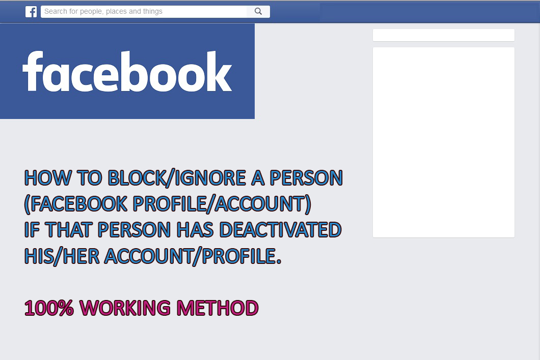 NEWS and my views: How to block/ignore person (Facebook