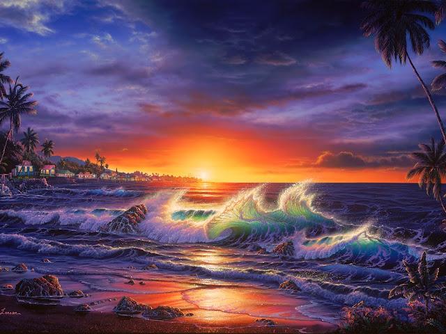 Il mondo di mary antony christian lassen reise i for Paesaggi marini dipinti