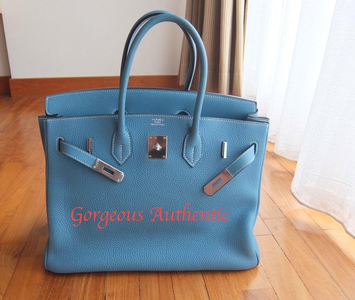 e8d2eb14f9 hermes blue jean togo 35cm birkin bag