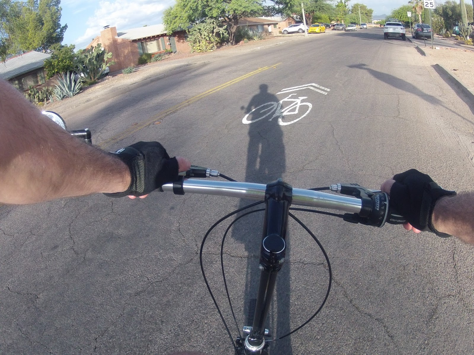 these routes provide regular sharrows with both a directions and a share the road message
