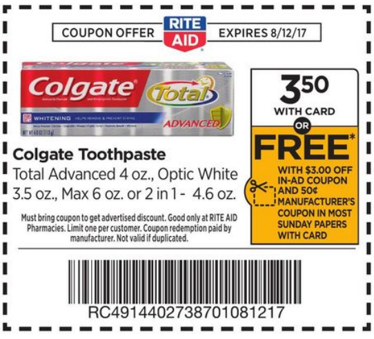 rite aid photo coupons in store