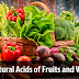 Kerala PSC - List of Natural Acids of Fruits and Vegetables