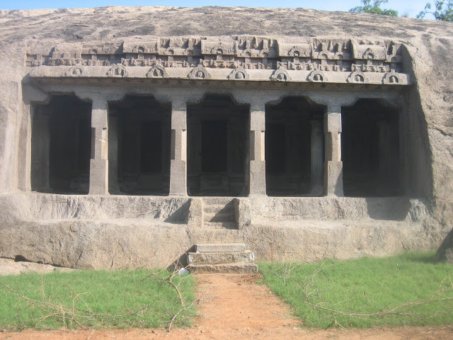 Ancient cave temple built by Pallava King built by Mahendravarman  1 Mahabalipuram, india