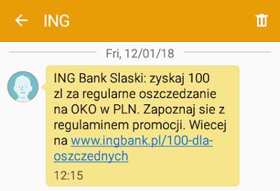 ING Bank Śląski - konto bankowe z premią do 240 zł styczeń 2018