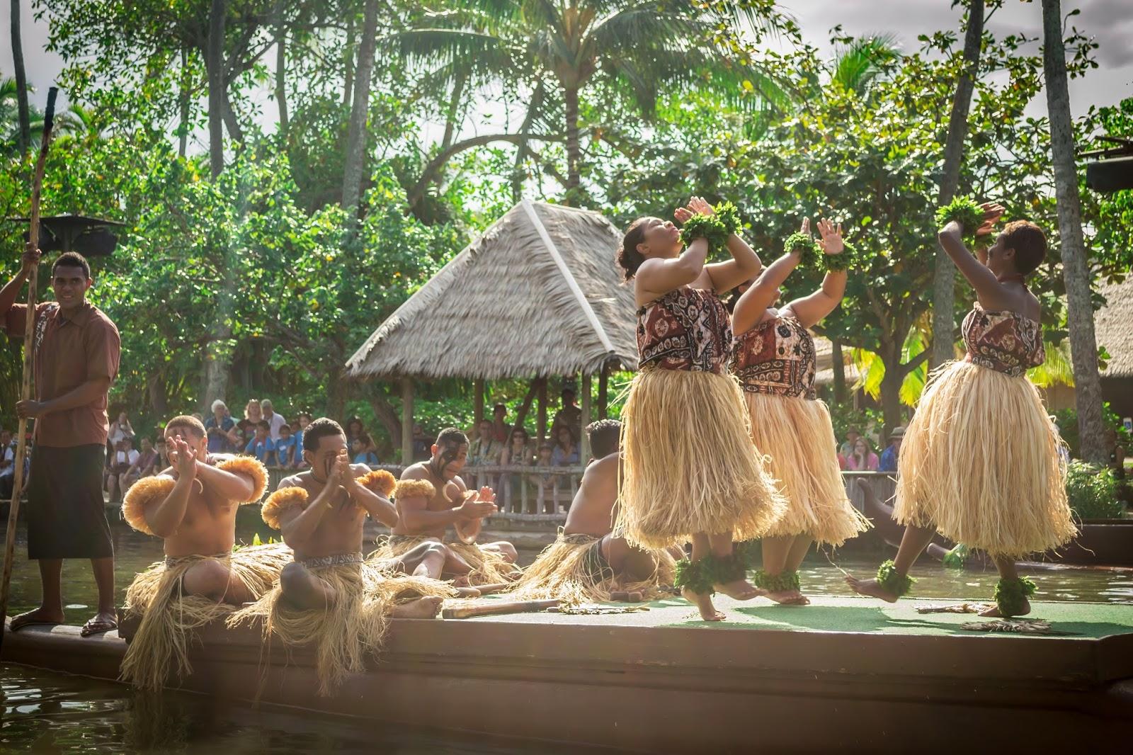 Boat Parade in Polynesian Cultural Centre