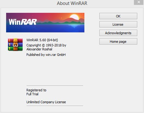 WinRAR Full Trial Unlimited Registration