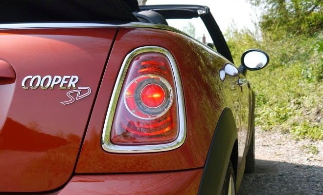 Mini Cooper SD Convertible badge