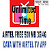 (UNLIMITED)GET FREE AIRTEL 500 MB 3G/4G FREE DATA FOR DOWNLOAD AIRTEL TV