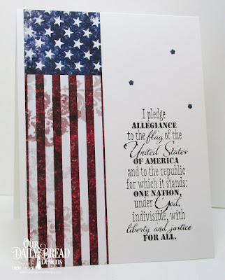 ODBD Justice For All, ODBD Stars and Stripes Paper Collection, ODBD Custom USA Flag Die, Card Designer Angie Crockett