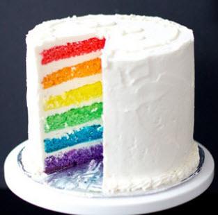 Resep rainbow cake bolu panggang pelangi ala Martha Stewart dan cara membuatnya