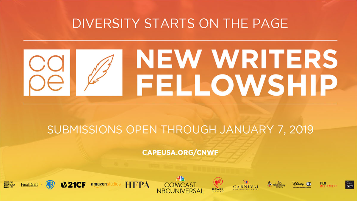 Hey screenwriters! Apply to the CAPE New Writers Fellowship