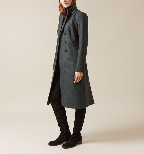 hobbs dark green wool coat, hobbs mirelle coat,