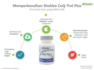 CoQ-Trol Plus, tenaga; kesuburan; kulit berseri; ketajaman minda; kesihatan darah; shaklee labuan; shaklee kudat; shaklee beaufort; sahklee johor