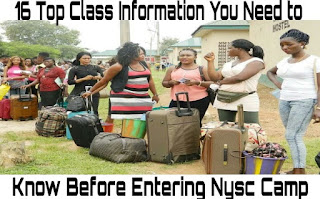 Image for NYSC corp members in camp