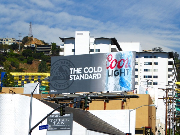 Coors Light Cold Standard beer billboard