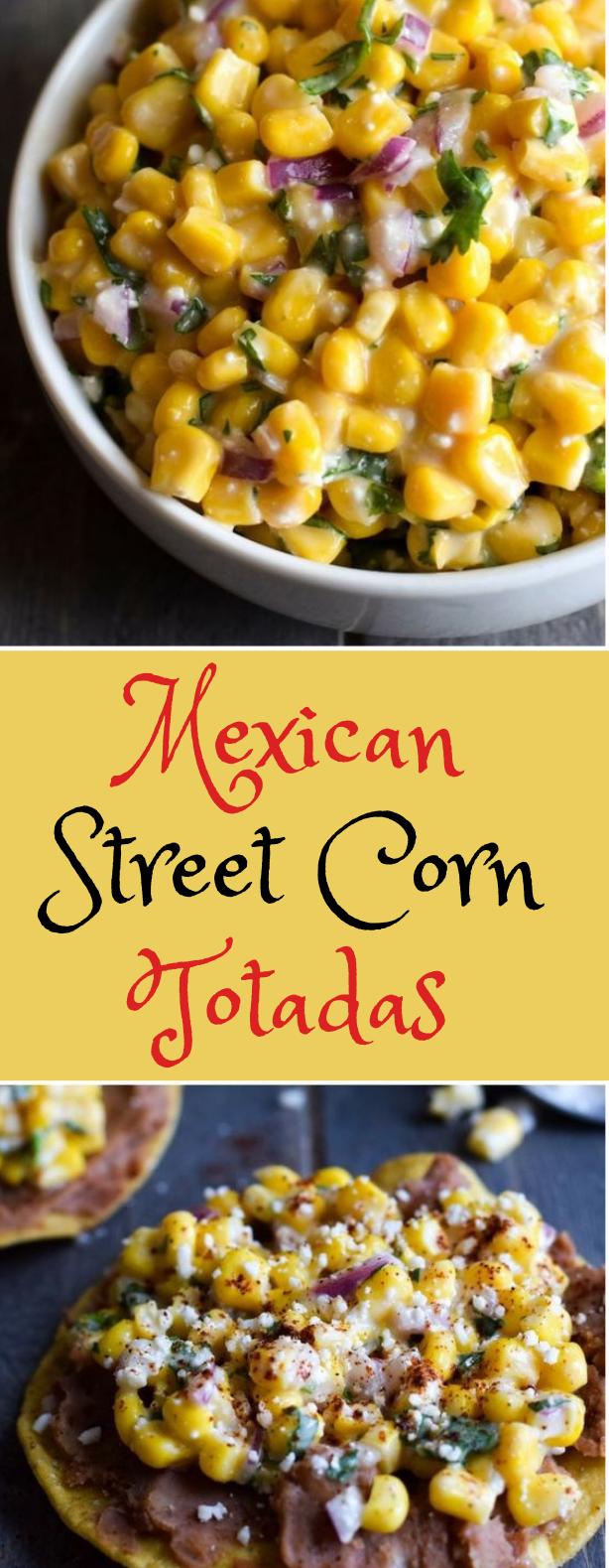 Mexican Street Corn Tostadas #corn #vegetarian