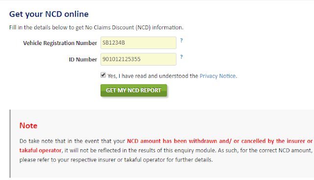 Cara Semak NCD Insuran Kereta Secara Online
