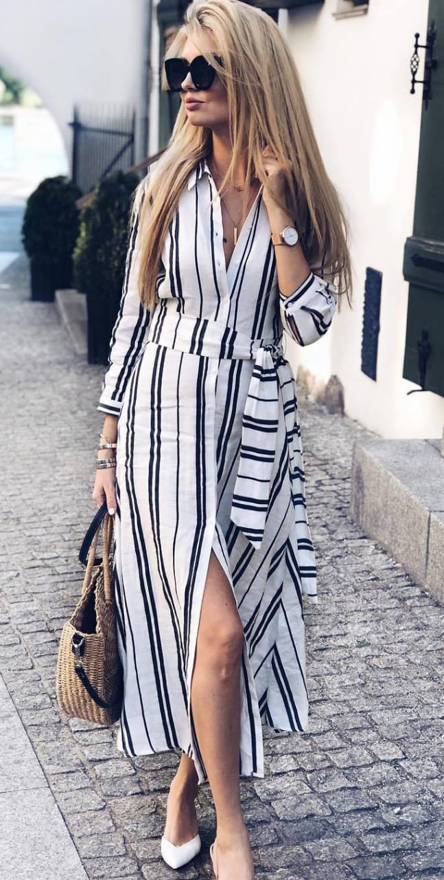 Collared dress for women. Casual Womens Fashion and Womens Cool Trending Clothes, Dresses. #womensfashion #womensdress #summeroutfit #casualoutfit