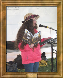 Writer Shelley Banks, at the Cathedral Village Arts Festival 2011