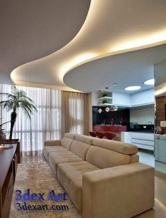 Living Hall Plaster Ceiling Design. Modern Gypsum Board
