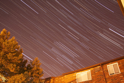 star trails before color manipulation