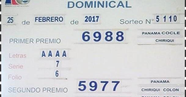 Loteria Nacional De Panama Resultados Resultados Sorteo Del Sabado 25 De Febrero 2017 Lotería Nacional De Panamá