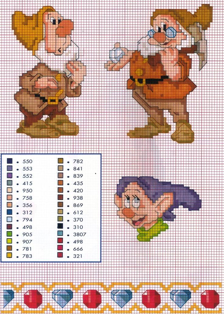 Schemi Punto Croce Raccolta Cartoni Animati Biancaneve