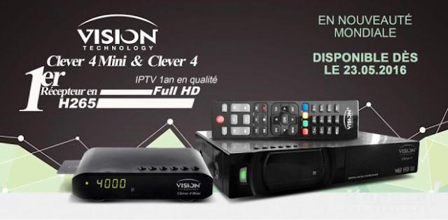 تقديم الجهاز الجديد Vision Clever 4 IPTV Unboxing moresat smartplus cccam clever III unboxing