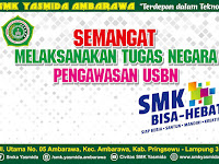 Desain Banner Sambutan Pengawas USBN SMK Yasmida