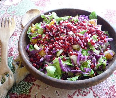 Clementine, Pomegranate, & Red Cabbage Salad