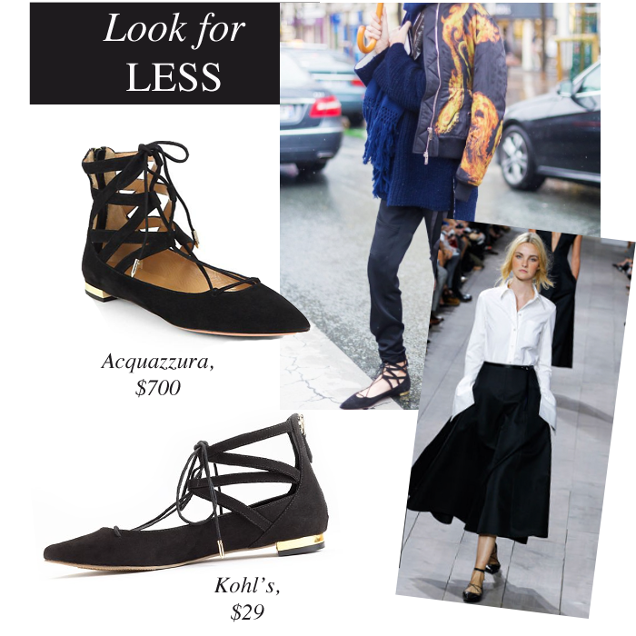 9a1623f9a Look for Less: Lace-Up Ballet Flats | Viva Fashion