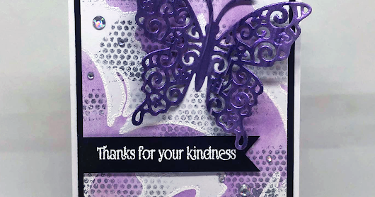 Beautiful Butterfly Thank You Card