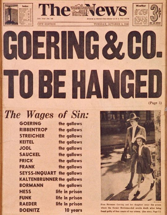 Hermann Goering death hanging worldwartwo.filminspector.com