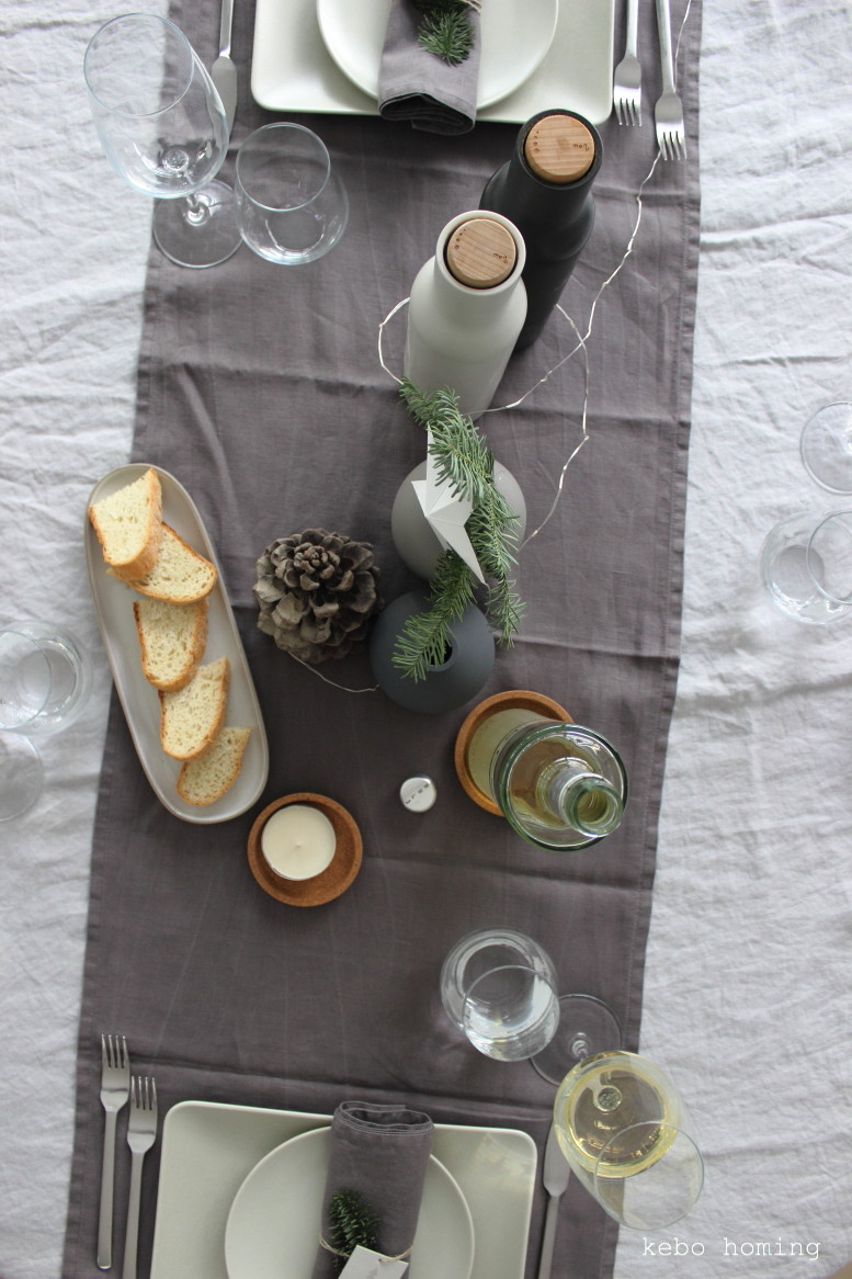 Table Setting, kebo homing, Bree Wein, Non Colors, Greige, Grautöne, Inspriation, Dekoration, H&M Home